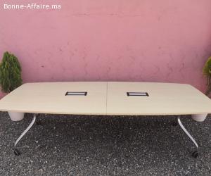 TABLE DE CONFERENCE PLIANTE WILKHAHN 280X140cm