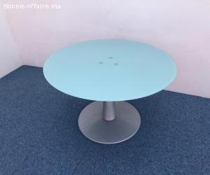 Table ronde en verre 100cm Haworth