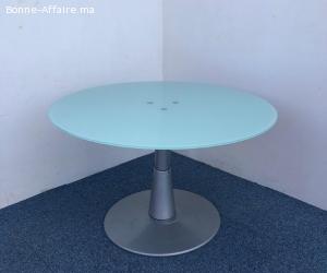 Table ronde en verre 120cm Haworth