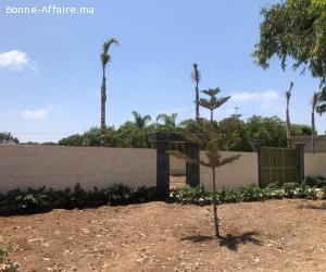 terrain autorisé villa sur goudron a 30 min de casablanca