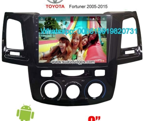 Toyota Fortuner Car audio radio android GPS navigation camer