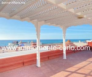 Villa  à Harhoura avec une grande terrasse vue sur mer
