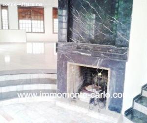 Villa avec beau jardin à louer à Hay Riad RABAT