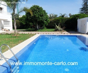 Villa avec chauffage et piscine à louer au quartier  Souissi