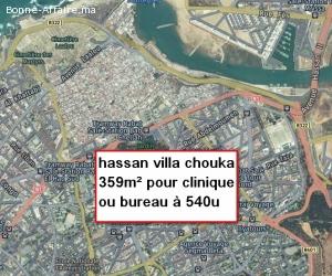 villa chouka  pour clinique bureau sur 359m² hassan rabat
