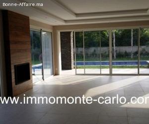 Villa haut standing neuve avec piscineà souissi